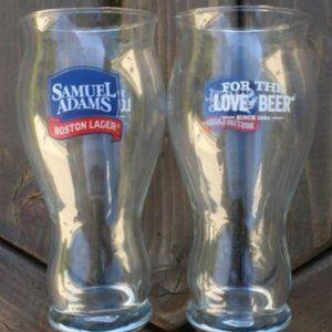 SAMUEL ADAMS BOSTON LAGER PINT GLASS PAIR NEW